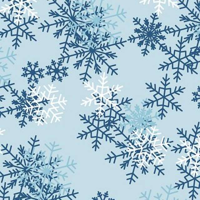 light blue snowflake fleece fabric