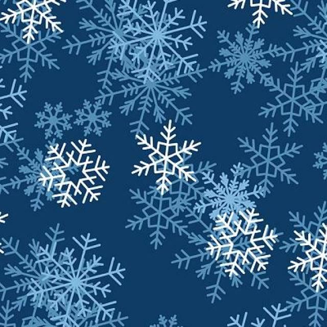 dark blue snowflake fleece fabric - Christmas Fleece