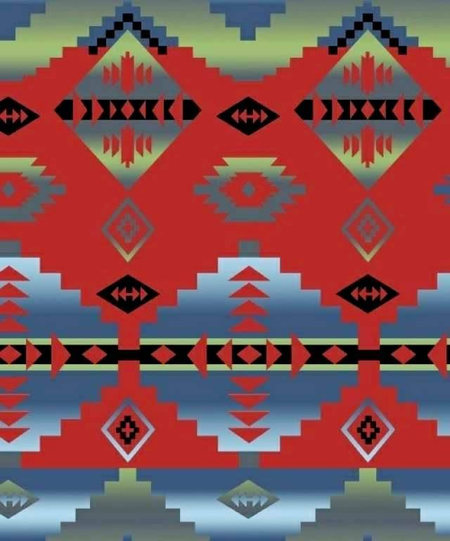 Cody Red Native American Fleece Fabric