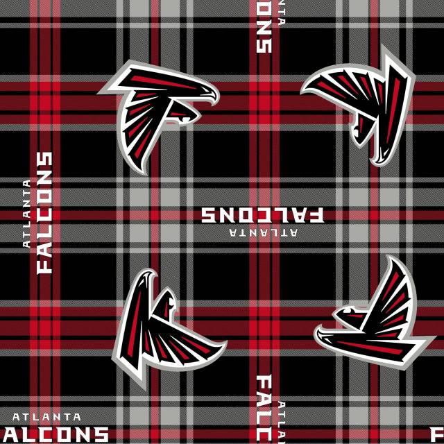 Oakland Raiders NFL Plaid Fleece Fabric 6415 D