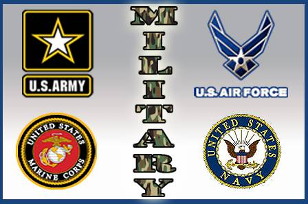 Military Branches Fabric