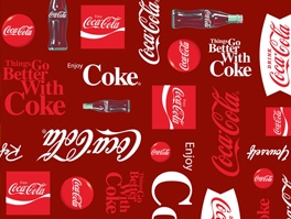 Coca Cola Fleece Fabric