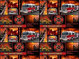 Fire Department Fleece Fabric