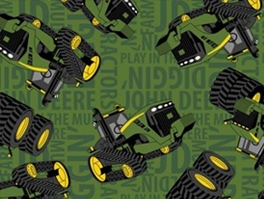 John Deere Fleece Fabric