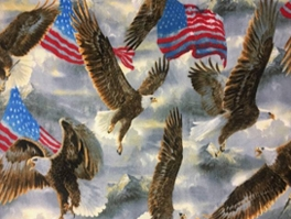 Patriotic Fleece Fabric
