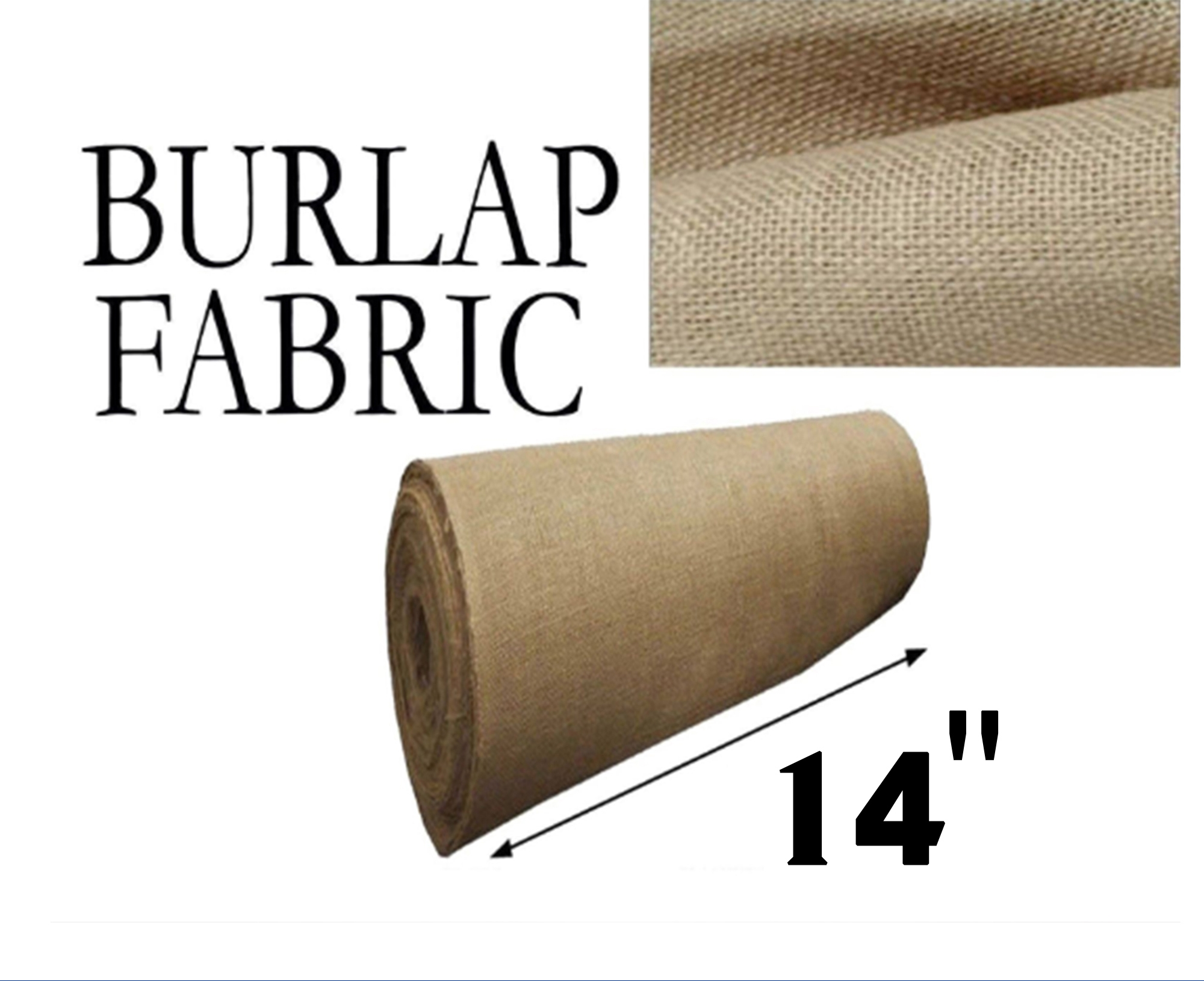 Burlap Natural 14 Inches Wide