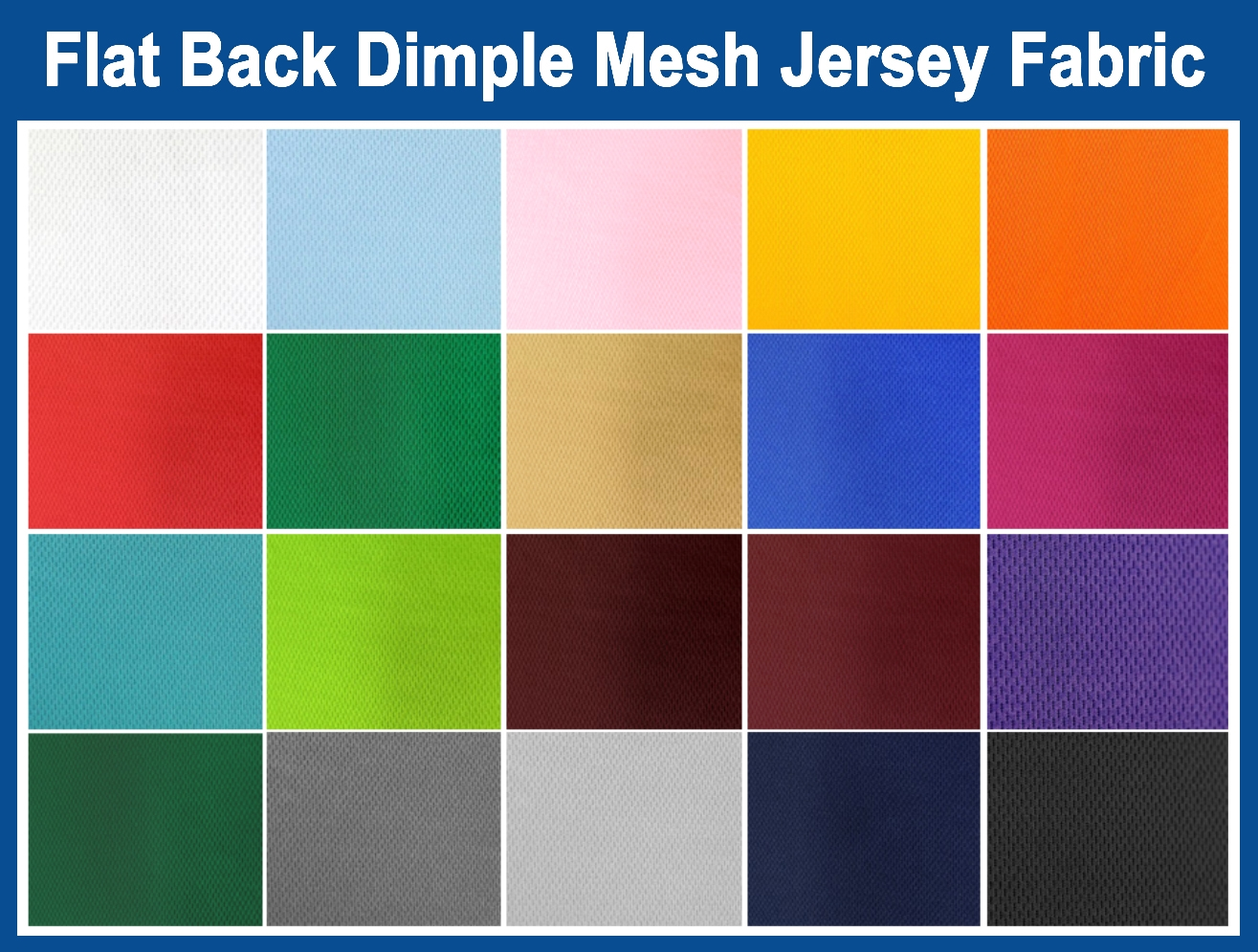 Flat Back Dimple Mesh Jersey Fabric