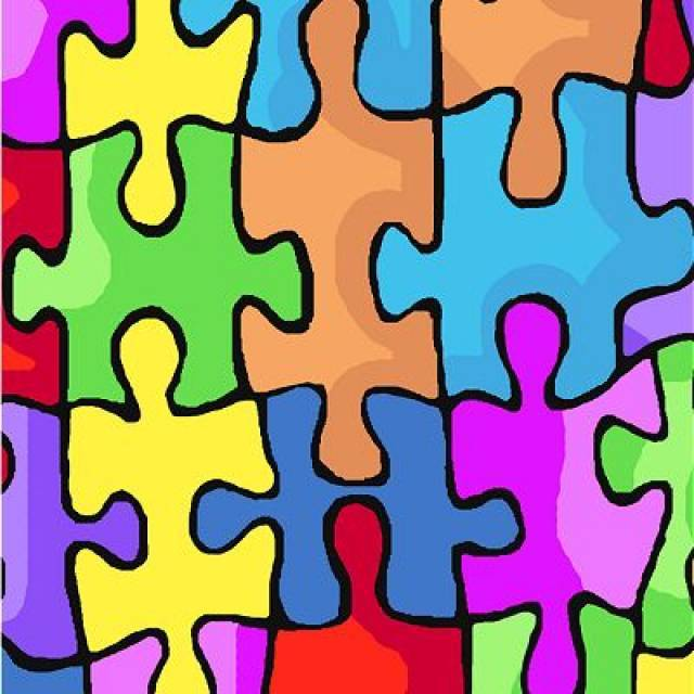 Jigsaw Puzzle Pieces Fleece