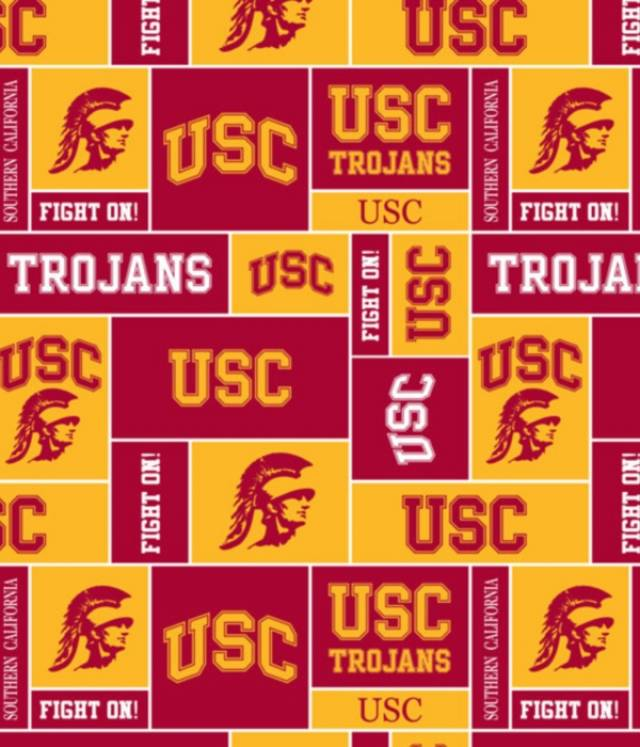 University of Southern California Trojans Fleece Fabric