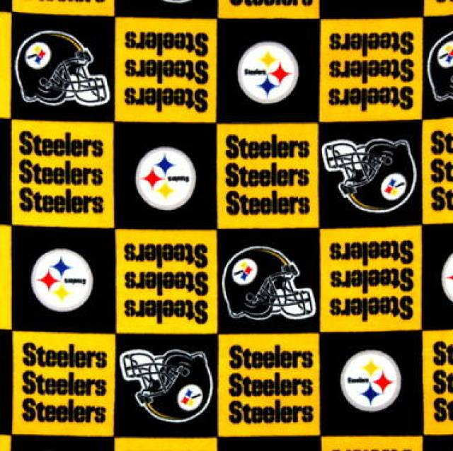 San Diego Chargers Fleece Fabric: Pittsburgh Steelers Blocks NFL Fleece Fabric