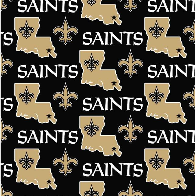 New Orleans Saints Allovers NFL Fleece Fabric
