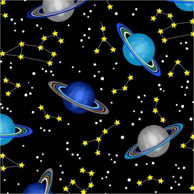 Saturn planet space fleece fabric for Spaceship fleece fabric