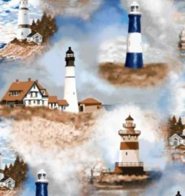 Lighthouses Fleece