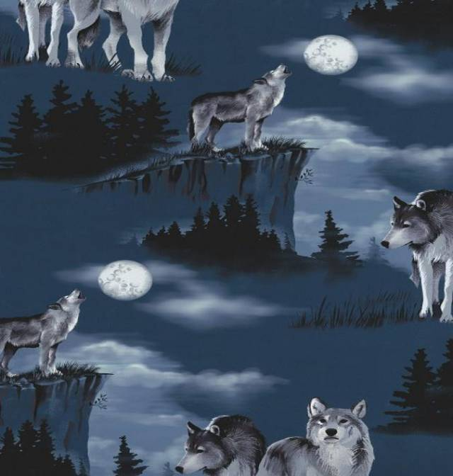 Wolves Baying At The Moon Fleece
