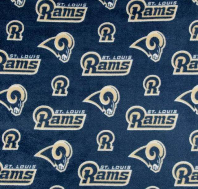 San Diego Chargers Fleece Fabric: NFL St. Louis Rams Fleece