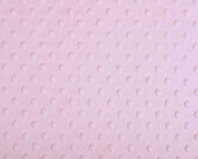 Baby Pink Minky Cuddle Dimple Dot Fabric