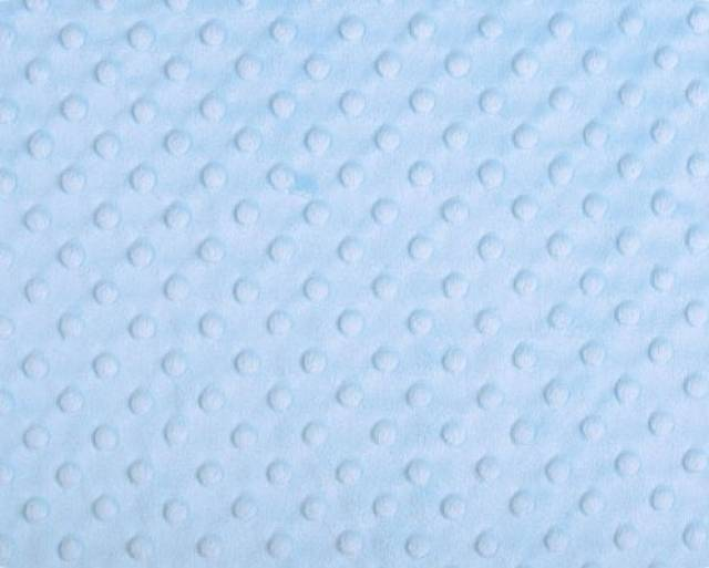 Baby Blue Minky Cuddle Dimple Dot Fabric
