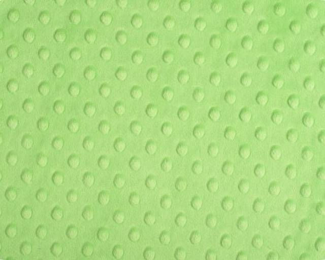 Lime Green Cuddle Minky Dimple Dot Fabric
