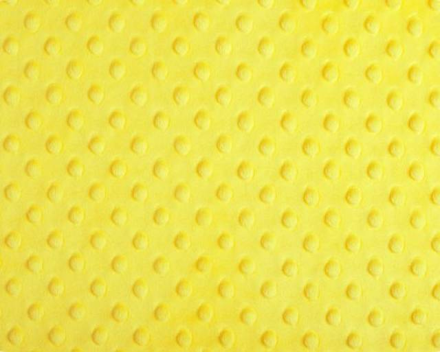 Canary Yellow Minky Cuddle Dimple Dot Fabric