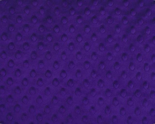 Purple Minky Cuddle Dimple Dot Fabric