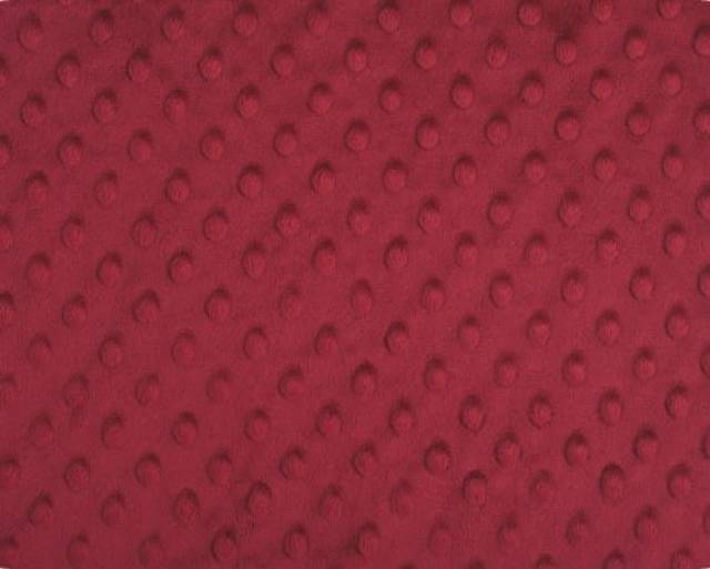 Burgundy Minky Cuddle Dimple Dot Fabric