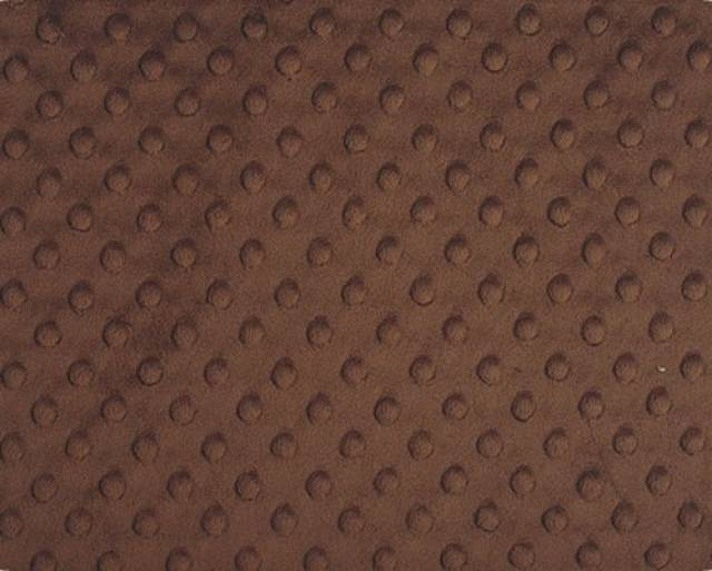 Brown Minky Cuddle Dimple Dot Fabric