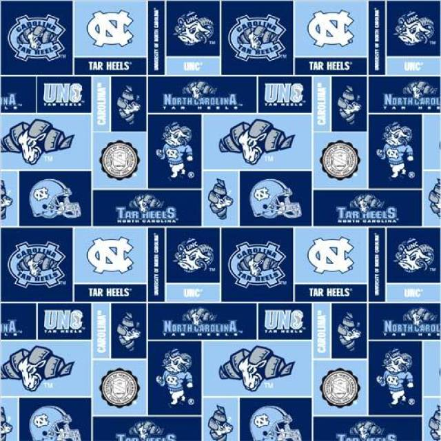 University of North Carolina Tar Heels Fleece Fabric