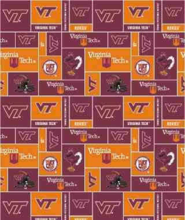 Virginia Tech Hokies Fleece Fabric