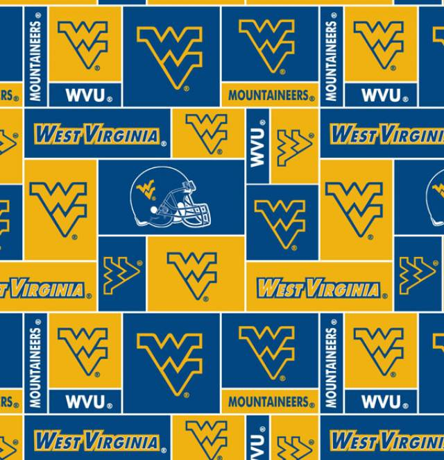 West Virginia University Mountaineers Fleece Fabric
