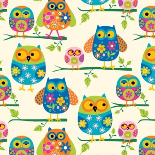 Owls On Branches Fleece
