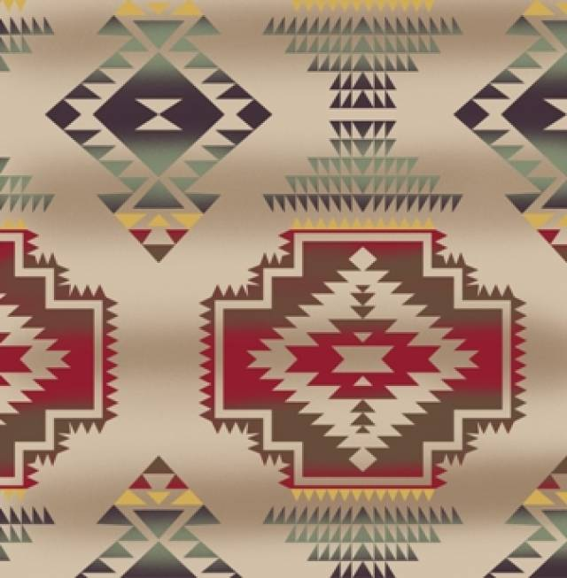 Windrunner Tan Native American Fleece Fabric