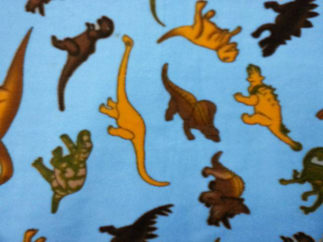 Dinosaurs Allover Blue Fleece