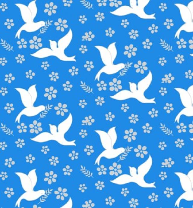 Doves of Peace Allover Fleece