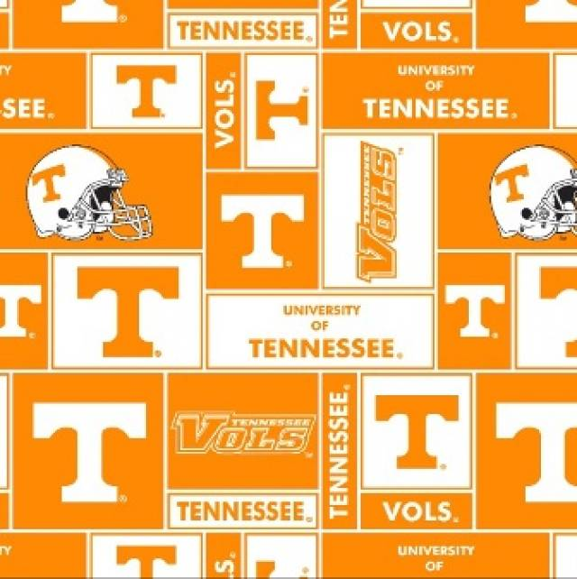 University of Tennessee Volts Fleece Fabric