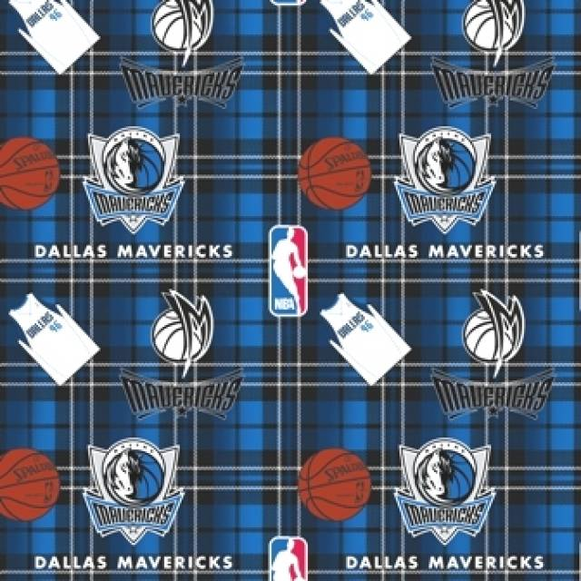 Dallas Mavericks Plaids Fleece Fabric
