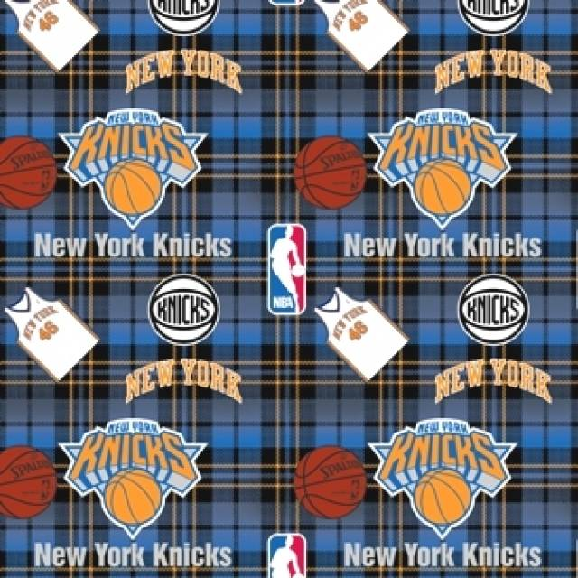 New York Knicks Plaids Fleece Fabric