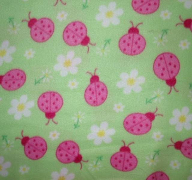 Lady Bugs & Daisy Mint Fleece