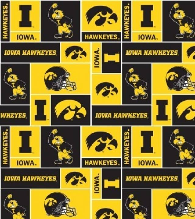 University of Iowa Hawkeyes Fleece Fabric