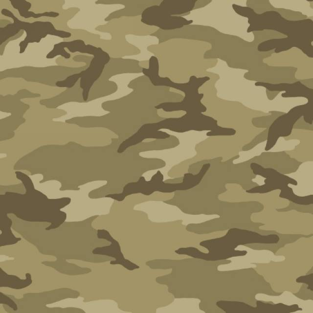Taupe Camouflage Fleece Fabric