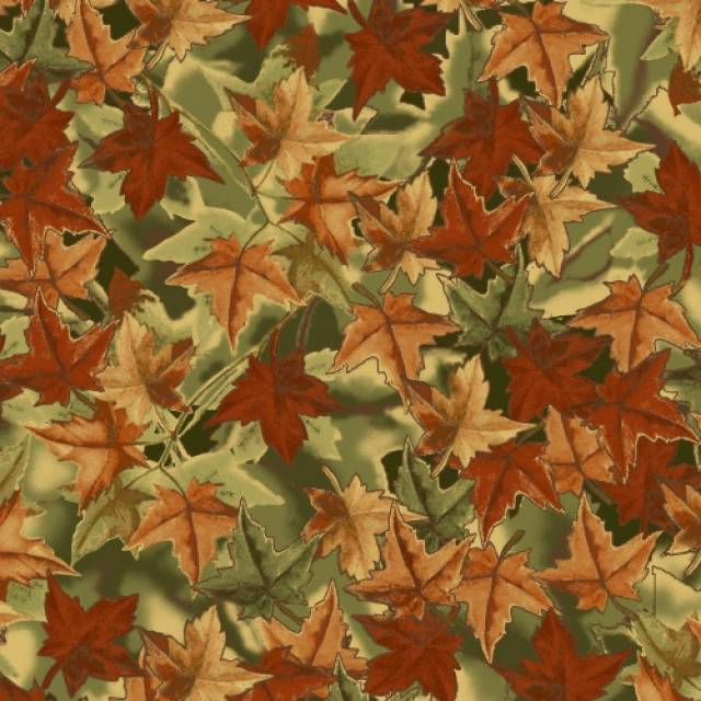 Foliage Leaves Fleece