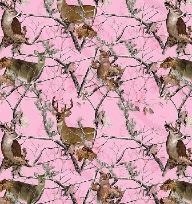 RealTree Pink Deer Allover Fleece
