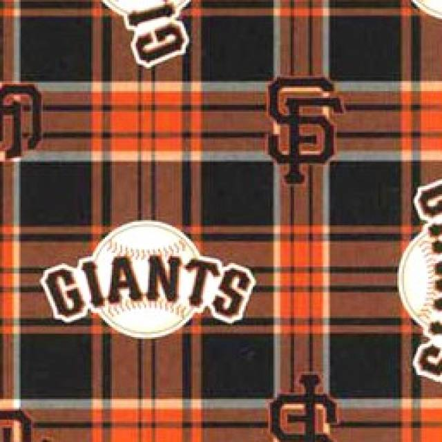 MLB San Francisco Giants Plaid Fleece