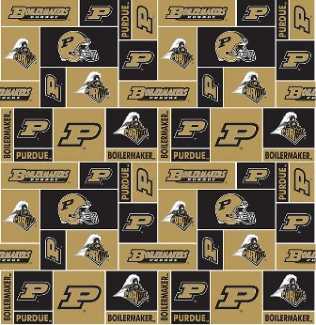 Purdue University Boilermakers Fleece Fabric