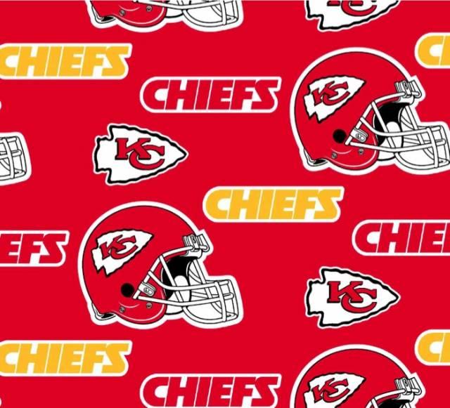 Kansas City Chiefs Fleece Fabric Nfl Football Team