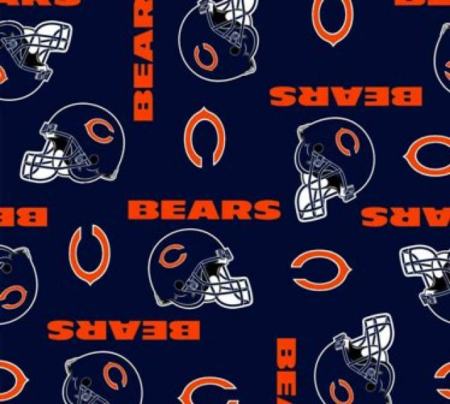 Chicago Bears Allovers NFL Fleece Fabric