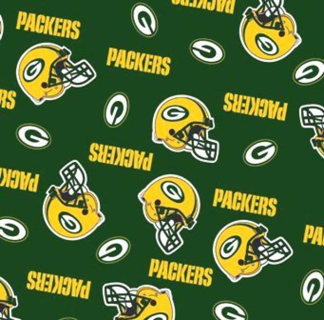 Green Bay Packers Allovers Fleece Fabric Nfl Football Team Fleece Fabric