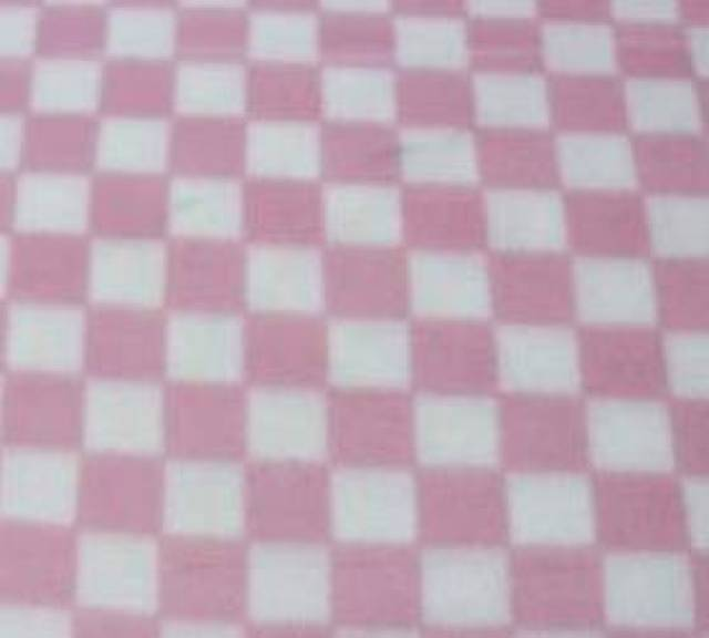 Baby Pink Checkers Fleece