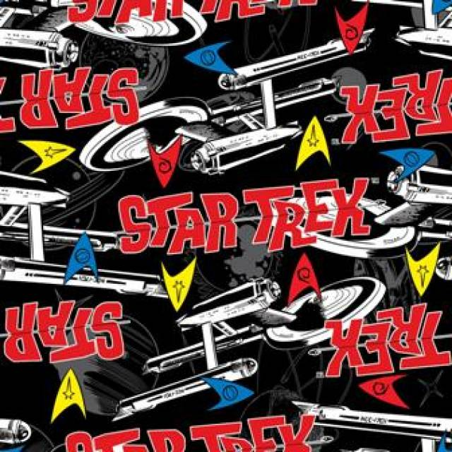 Star Trek Allover Fleece Fabric
