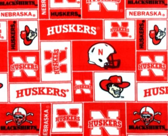 University of Nebraska Huskers Fleece Fabric