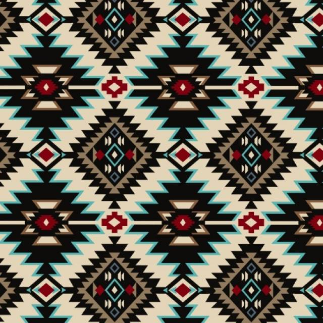 Shadow Diamonds Native American Fleece Fabric